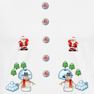 christmas snowmans Scene Father Christmas - Men's Premium T-Shirt