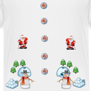 christmas snowmans Scene Father Christmas - Toddler Premium T-Shirt
