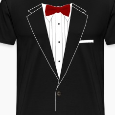 Tuxedo Red Bowtie T-Shirts