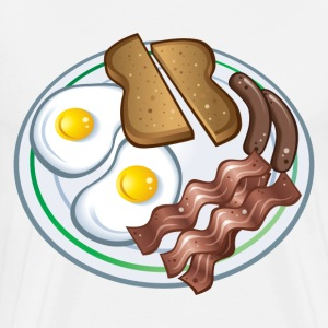 Breakfast Plate T-Shirts - Men's Premium T-Shirt
