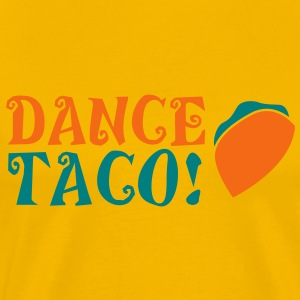 DANCE TACO! with takeaway food burrito  T-Shirts - Men's Premium T-Shirt