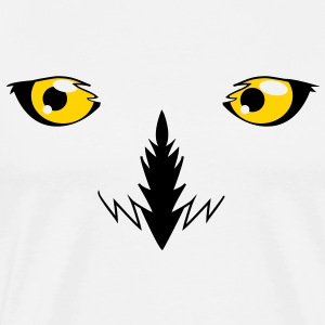 REALISTIC snowy owl eyes very effective!  T-Shirts - Men's Premium T-Shirt