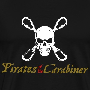 Pirates of the Carabiner (3-color vector) T-Shirts - Men's Premium T-Shirt