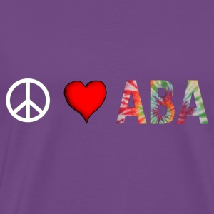 peaceloveaba3 T-Shirts - Men's Premium T-Shirt