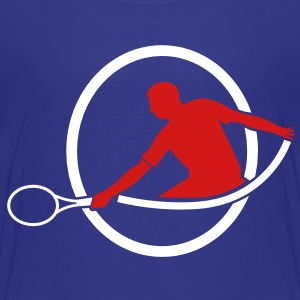tennis man hitting swing hit Baby & Toddler Shirts - Toddler Premium T-Shirt