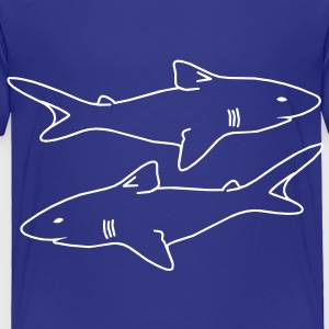 two sharks outlines menacing evil realistic Baby & Toddler Shirts - Toddler Premium T-Shirt