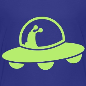 cute alien space craft flying with a passenger Baby & Toddler Shirts - Toddler Premium T-Shirt