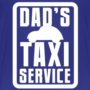 CAR with Dad's TAXI service in a rectangle Baby & Toddler Shirts - Toddler Premium T-Shirt