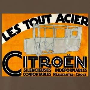 Citroen French vintage advertising Car ad T Shirt - Men's Premium T-Shirt