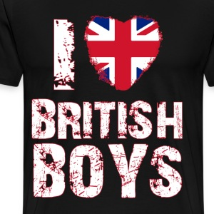 i love british boys T-Shirts - Men's Premium T-Shirt