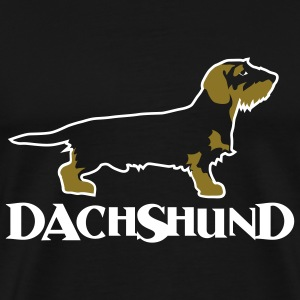 dachshound on black - Men's Premium T-Shirt