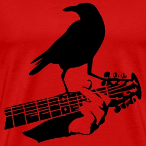 crow on the guitar T-Shirts - Men's Premium T-Shirt