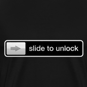 Slide to Unlock iPhone - Men's Premium T-Shirt