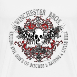Winchester Bros Ring Patch 2 silver T-Shirts - Men's Premium T-Shirt