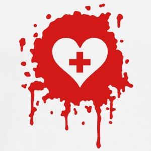 splatter heart doc T-Shirts - Men's Premium T-Shirt