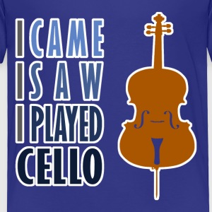 I Played Cello Toddler T-Shirt - Toddler Premium T-Shirt