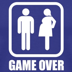 Game over - pregnant T-Shirts