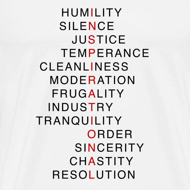 Benjamin Franklin's Virtues 2