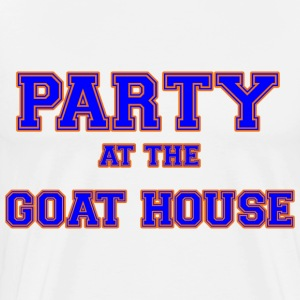 party_at_the_goat_house_blue T-Shirts - Men's Premium T-Shirt