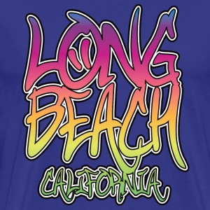 Long Beach Graffiti Heavyweight T-Shirt - Men's Premium T-Shirt