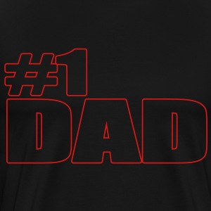#1 DAD T-Shirts - Men's Premium T-Shirt