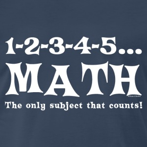 White Math Counts  T-Shirts - Men's Premium T-Shirt