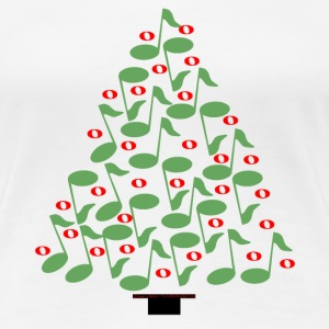 Musical Christmas Tree  Women's T-Shirts - Women's Premium T-Shirt