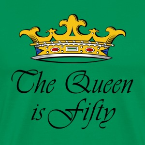 50th birthday crown_the queen is fifty T-Shirts - Men's Premium T-Shirt