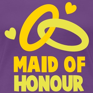 MAID OF HONOUR with love hearts Women's T-Shirts - Women's Premium T-Shirt