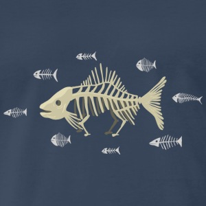 Dawins Fish Skeleton T-Shirts - Men's Premium T-Shirt