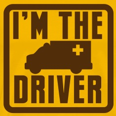 I'm the AMBULANCE ambo driver in a rounded square T-Shirts