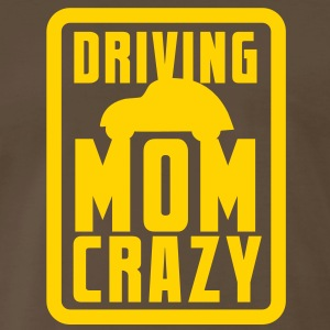 CAR driving mom mommy CRAZY! in pink for kids T-Shirts - Men's Premium T-Shirt