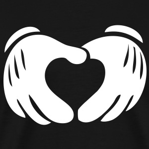 MICKEY HANDS LOVE T-Shirts - Men's Premium T-Shirt