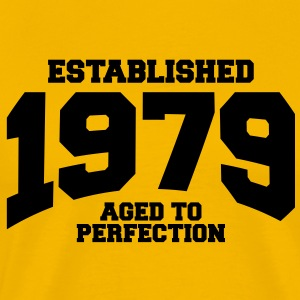 aged to perfection established 1979 T-Shirts - Men's Premium T-Shirt