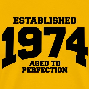 aged to perfection established 1974 T-Shirts - Men's Premium T-Shirt
