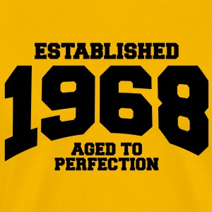 aged to perfection established 1968 T-Shirts - Men's Premium T-Shirt
