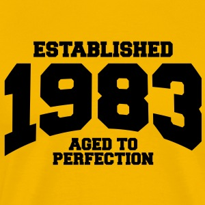 aged to perfection established 1983 T-Shirts - Men's Premium T-Shirt