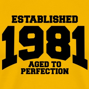 aged to perfection established 1981 T-Shirts - Men's Premium T-Shirt