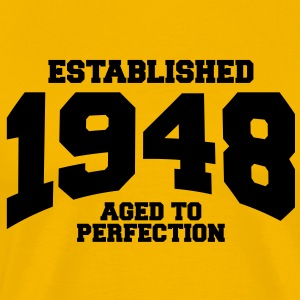 aged to perfection established 1948 T-Shirts - Men's Premium T-Shirt