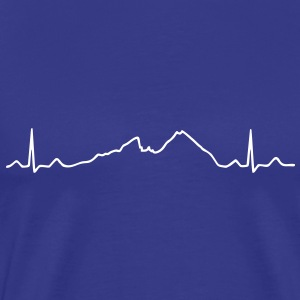 ECG EKG Mountains Electrocardiography T-Shirts - Men's Premium T-Shirt