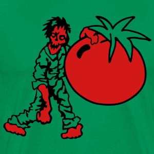 Zombie with Tomato T-Shirts - Men's Premium T-Shirt