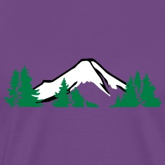 Mountains with forest T-Shirts