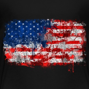 USA Flag grunge - Toddler Premium T-Shirt