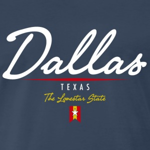 Dallas Script Heavyweight T-Shirt - Men's Premium T-Shirt