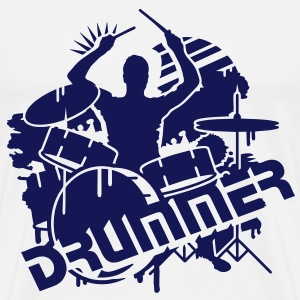 A drummer and his drums  T-Shirts - Men's Premium T-Shirt