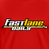 Design ~ Fast Lane Daily logo in three colors on a Heavyweight T