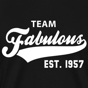 TEAM Fabulous Est. 1957 Birthday Shirt WB - Men's Premium T-Shirt