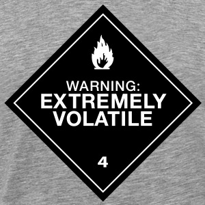 Warning Extremely Volatile - Men's Premium T-Shirt