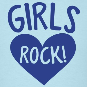 GIRLS rock hot chick shirt design with heart T-Shirts - Men's T-Shirt