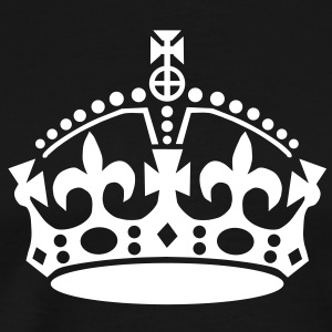 Keep Calm and carry on crown VECTOR READY TO ADD YOUR OWN TEXT TO PERSONALIZE T-Shirts - Men's Premium T-Shirt